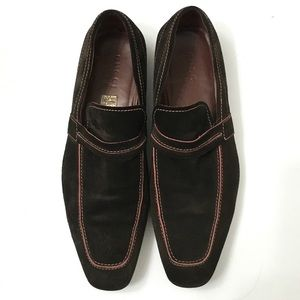 Gucci Men's Brown Suede Slip On Shoes